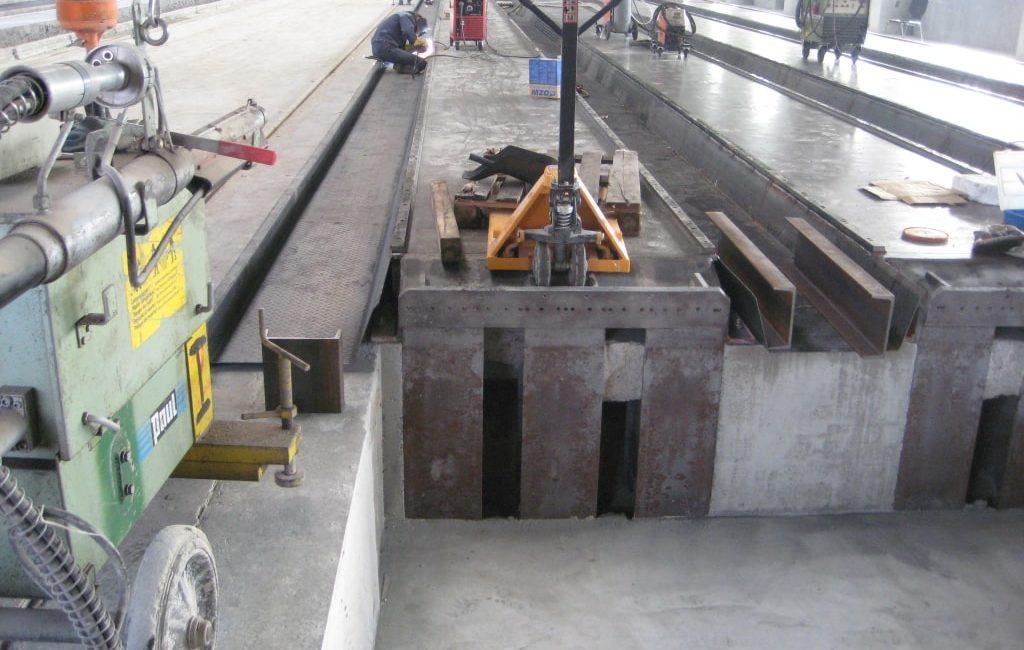 Fertigungsbahnen für Spanbeton-Deckenplatten